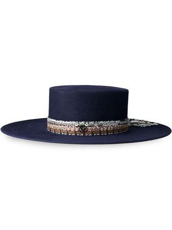 Maison Michel wide brim canotier hat - FARFETCH