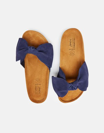 Bayside null Suede Bow Sliders , Size US Adult 5 | Joules US