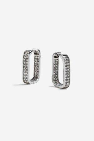 **Rectangle Hoop Earrings | Topshop