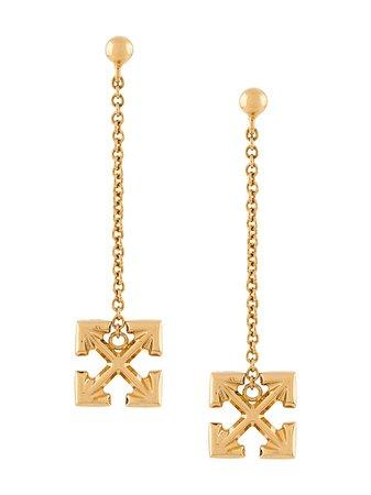 Off-White Arrows Teardrop Earrings   Farfetch.com