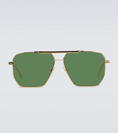 Metal-Frame Sunglasses | Bottega Veneta - Mytheresa