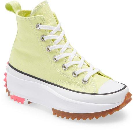 Chuck Taylor(R) All Star(R) Run Star Hike High Top Platform Sneaker