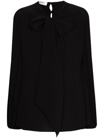 Valentino, pussy-bow Silk Blouse