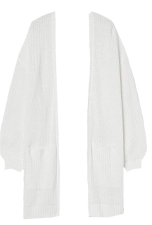 white open front duster