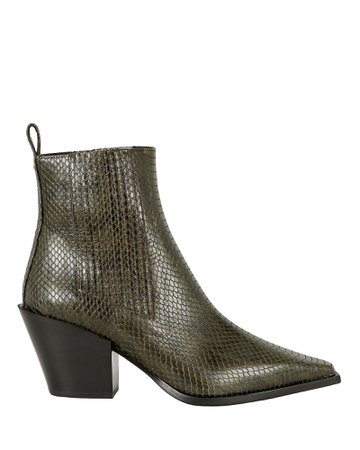 Kate Python-Embossed Booties
