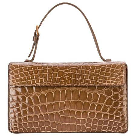 Prada Brown Crocodile Leather Vintage Bag, 2000s For Sale at 1stdibs
