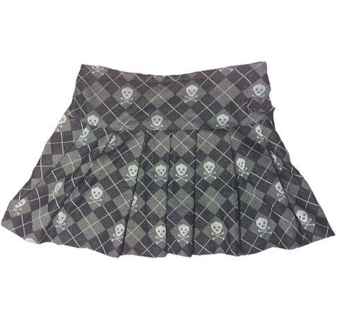 skull 90s y2k mini skirt