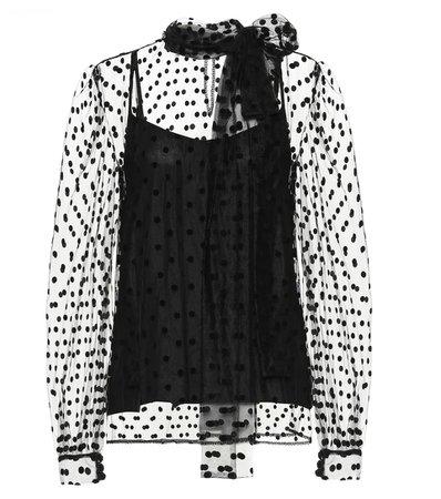 Costarellos - Polka-dot blouse   Mytheresa