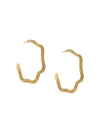 Aurelie Bidermann Snake Hoop Earrings - Farfetch