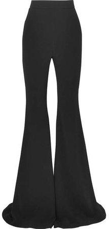 Crepe Flared Pants - Black