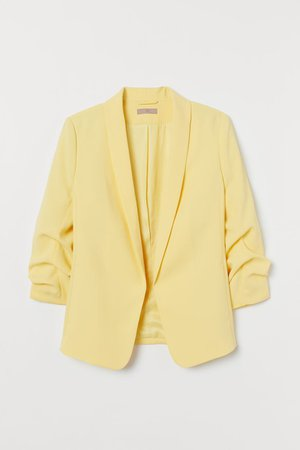 H&M+ Shawl-collar Jacket - Light yellow - Ladies | H&M US