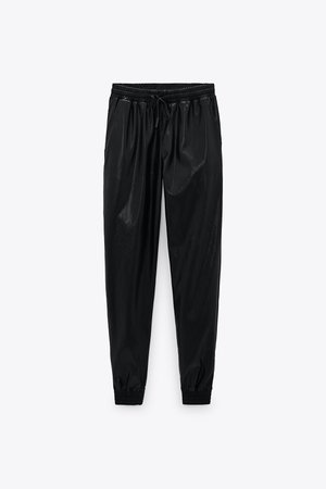FAUX LEATHER JOGGING PANTS | ZARA United States