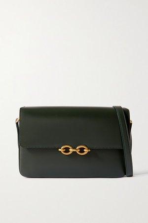 Le Maillon Leather Shoulder Bag - Green