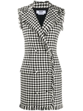 Msgm Houndstooth Double-Breasted Dress Ss20 | Farfetch.com