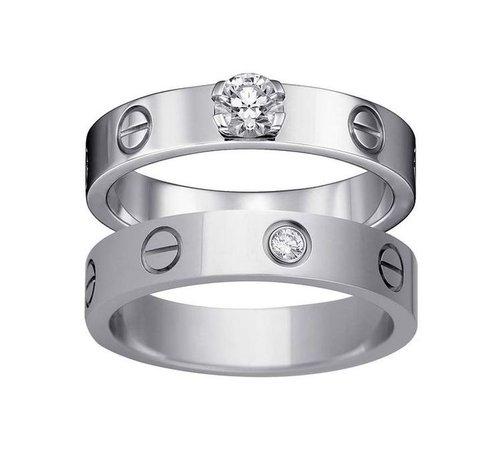 Cartier silver band