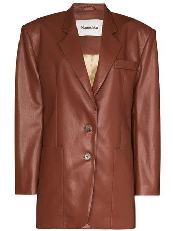 Nanushka Evan faux-leather Blazer - Farfetch
