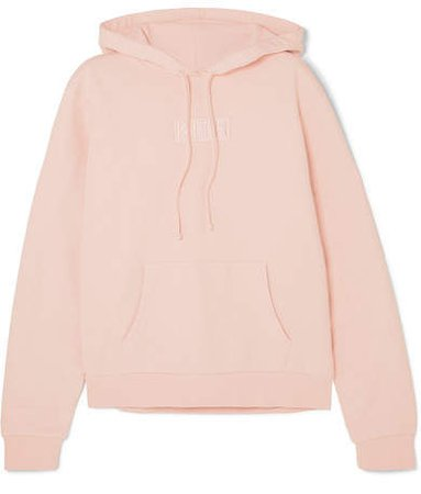 Kith - Baxter Embroidered Cotton-jersey Hooded Top - Pink