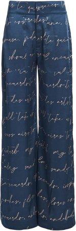 Johanna Ortiz My Kind Of Poetry Silk Wide-Leg Pants