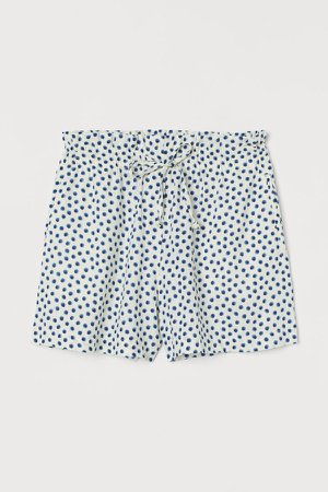 H&M+ Linen-blend Shorts - White