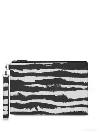 Burberry Watercolour Print Zip Pouch 8029146 White | Farfetch