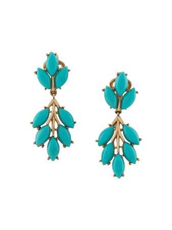 Pre-owned 1960s Beaded Drop Earrings