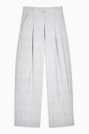 **Grey Check Shirt and Trousers Set by Topshop Boutique | Topshop