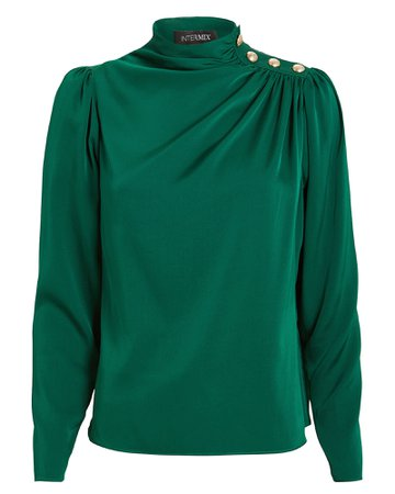 Monica Draped Silk Blouse