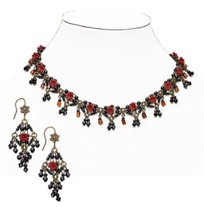 Dark Red Flowers Jewelry - GaelSong