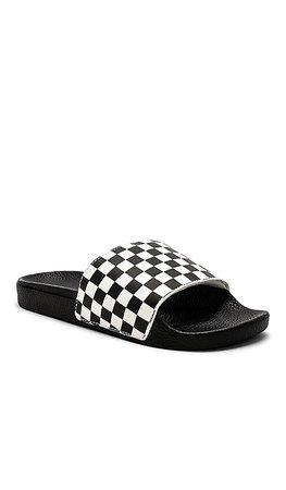 Vans Slide On in Checkerboard White | REVOLVE