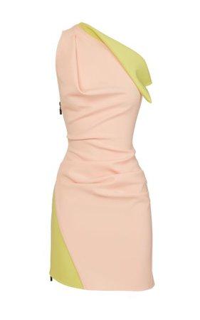 Endless Two-Tone One-Shoulder Cady Mini Dress By Maticevski   Moda Operandi