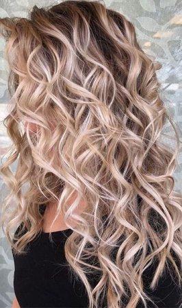 blonde sexy curls