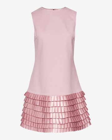 Satin loop shift dress - Pale Pink | Dresses | Ted Baker ROW