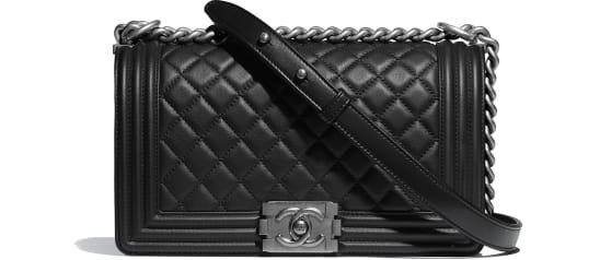 BOY CHANEL Handbag, calfskin & ruthenium-finish metal, black - CHANEL