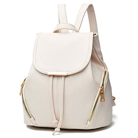 Amazon.com: Z-joyee Casual Purse Fashion School Leather Backpack Shoulder Bag Mini Backpack for Women & Girls,White2: Shoes