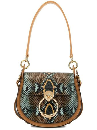 Tess embossed shoulder bag