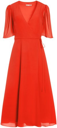 Suri Flutter Sleeve Midi Dress