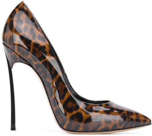 Blade leopard print pumps