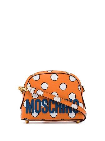 Moschino Mini Polka Dot Leather Crossbody Bag - Farfetch