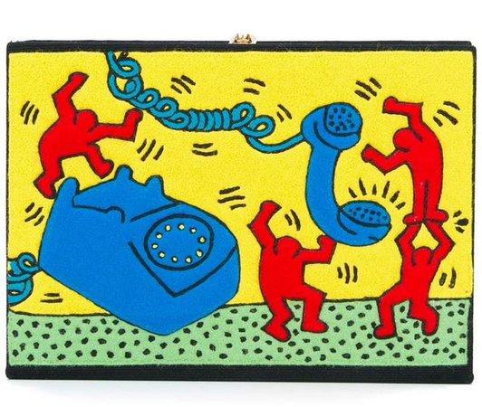 x Keith Haring clutch bag