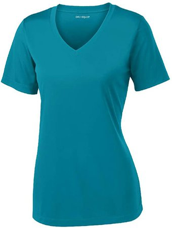 Amazon.com: Women's Short Sleeve Moisture Wicking Athletic Shirt-Royal-S: Clothing