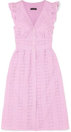 Broderie Anglaise Cotton-poplin Dress - Baby pink