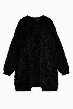 IDOL Knitted Black Eyelash Cardigan | Topshop