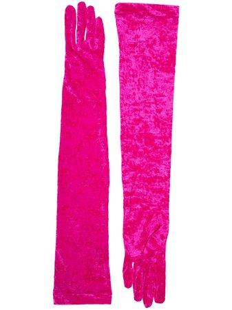Marine Serre Pink Long Gloves - Farfetch