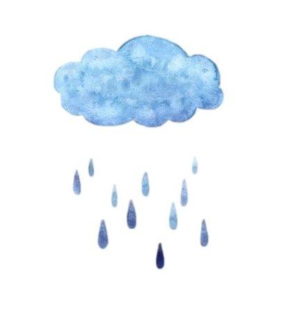 watercolor rain cloud