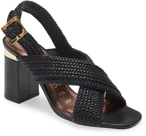 Cameeia Crossover Braided Slingback Sandal