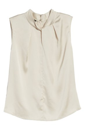Ming Wang Twist Neck Sleeveless Top | Nordstrom