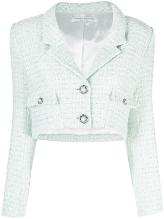 Alessandra Rich Cropped double-breasted Jacket - Farfetch