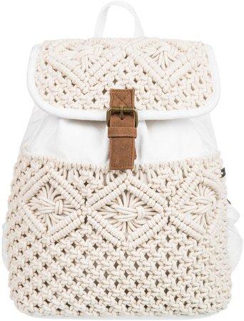 Blowing Landscape Crochet Backpack