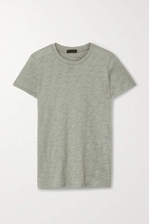 Schoolboy Slub Cotton-jersey T-shirt - Gray