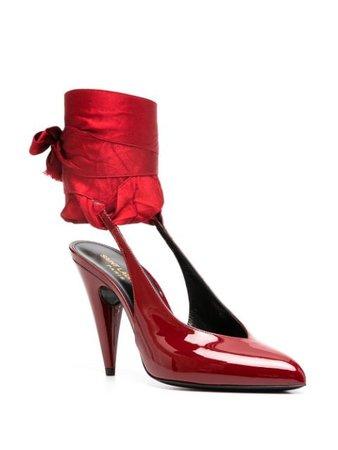 Saint Laurent Venus slingback pumps red 6441961TV00 - Farfetch